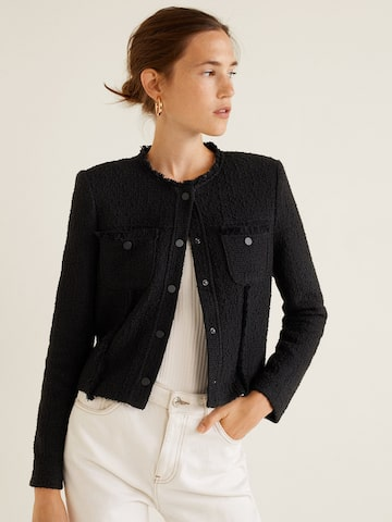 MANGO Women Black Self Design Tailored Jacket MANGO Jackets at myntra