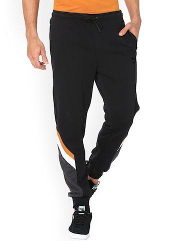 Puma Men's Black Slim Fit Joggers Puma Track Pants at myntra