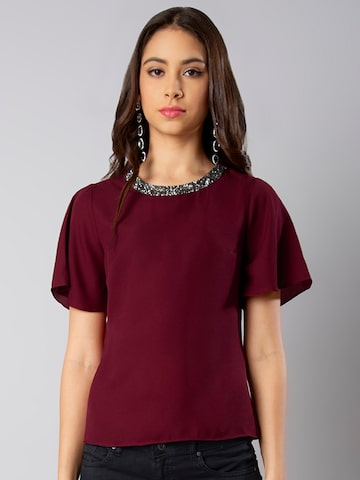 FabAlley Women Maroon Solid Top FabAlley Tops at myntra