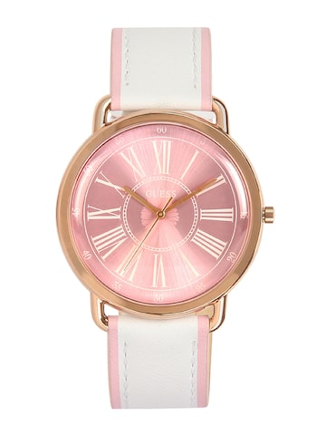 GUESS Women Rose Gold-T0ned Analogue Watch W0032L8 GUESS Watches at myntra