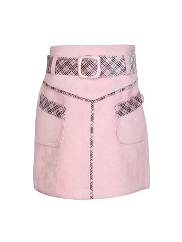 CUTECUMBER Girls Pink Straight Skirt CUTECUMBER Skirts at myntra