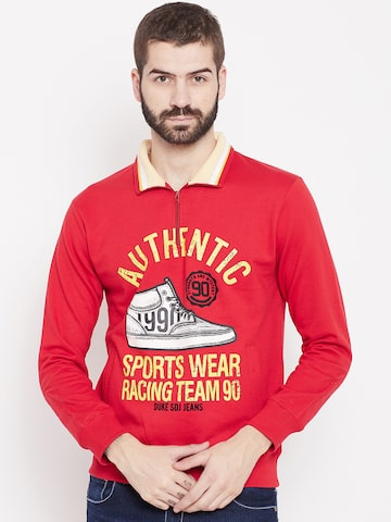 Duke Stardust Men Red Printed Sweatshirt Duke Stardust Sweatshirts at myntra