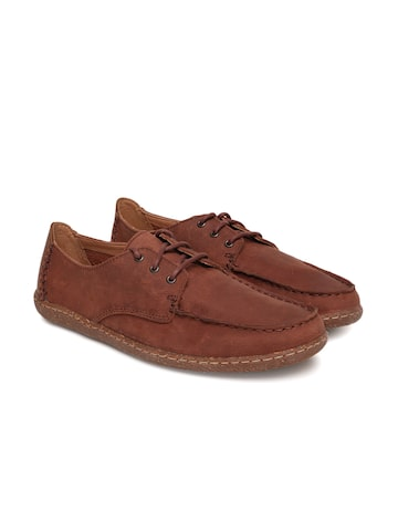 Clarks Men Tan Brown Saltash Lace British Suede Sneakers Clarks Casual Shoes at myntra