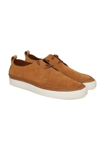 Clarks Men Tan Brown Derbys Clarks Casual Shoes at myntra