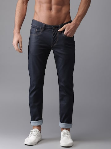 Flying Machine Men Blue Skinny Fit Low-Rise Clean Look Stretchable Jeans Flying Machine Jeans at myntra