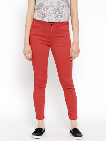 ONLY Red Trousers at myntra