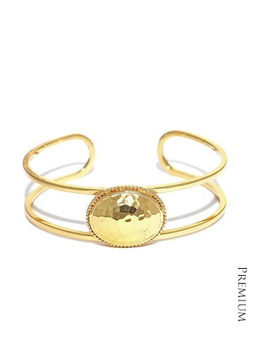 Dressberry 22K Gold-Plated Cuff Bracelet at myntra