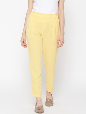 Vero Moda Yellow Casual Trousers at myntra