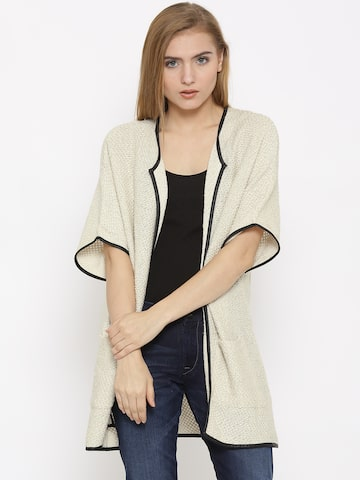 Vero Moda Cream-Coloured Shrug at myntra