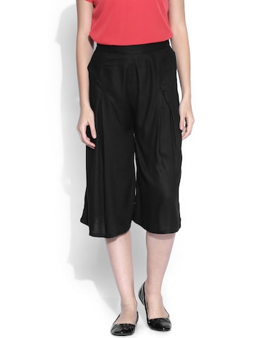 Miss Chase Black Culottes at myntra