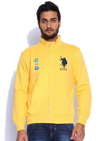 U.S. Polo Assn. Yellow Sweatshirt at myntra