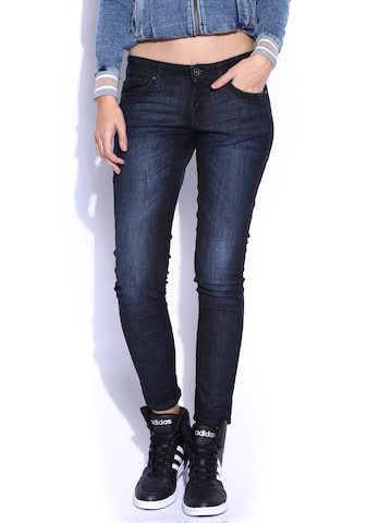 Lee Dark Blue LOM-Amy Ankle Slim Fit Jeans at myntra