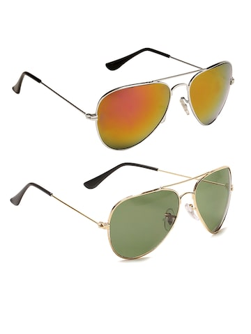 Camerii Unisex Set of 2 Aviator Sunglasses SA5 & SA9 at myntra