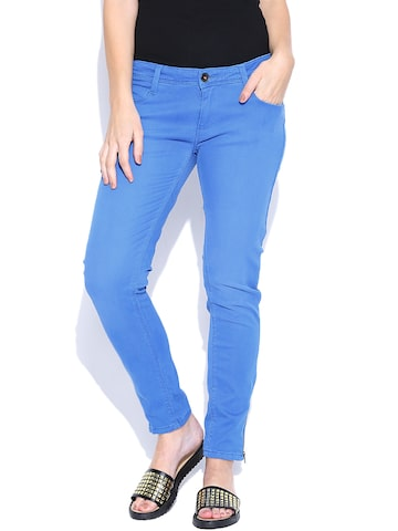 United Colors of Benetton Blue Skinny Jeans at myntra