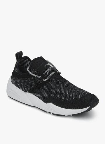 X Stampd Trinomic Woven Black Sneakers Puma Casual Shoes at myntra
