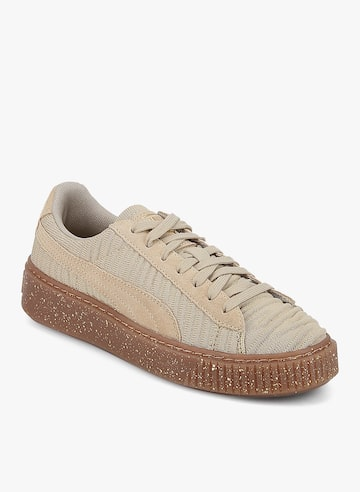 Basket Platform Ow Beige Sneakers Puma Casual Shoes at myntra