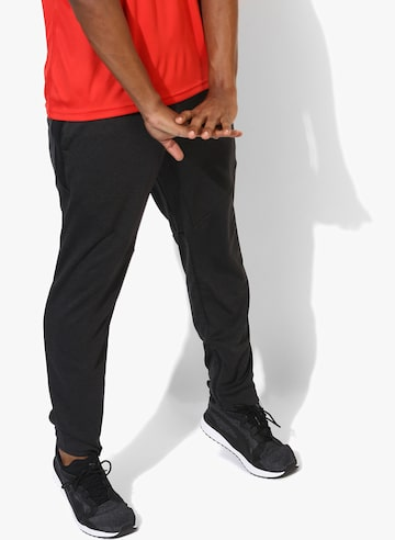Dark Grey Textured Track Pants Puma Track Pants at myntra