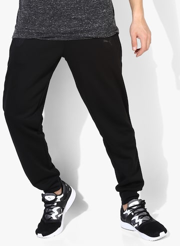 Black Joggers Puma Track Pants at myntra