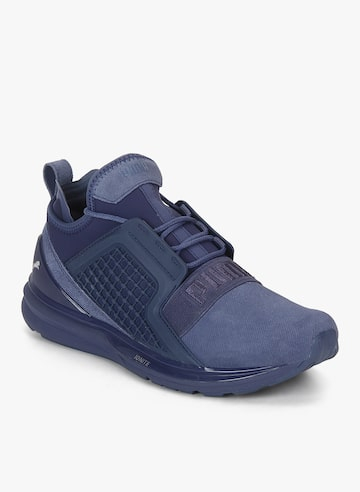 Ignite Limitless Brushed Suede Blue Sneakers Puma Casual Shoes at myntra