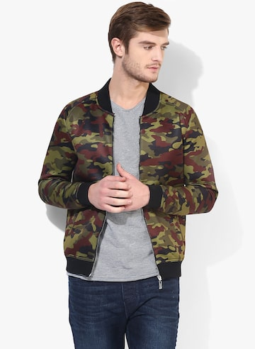 Multicolored Printed Casual Jacket United Colors of Benetton Jackets at myntra
