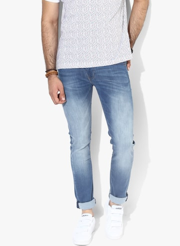 Blue Washed Slim Fit Jeans Pepe Jeans Jeans at myntra