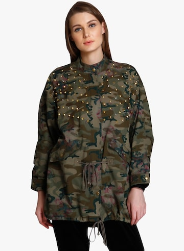 Green Printed Winter Jacket ONLY Jackets at myntra