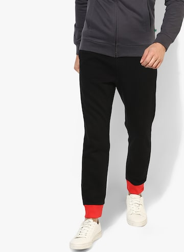 Black Solid Track Pants United Colors of Benetton Track Pants at myntra