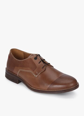 Glitch Parkview Tan Derby Formal Shoes Hush Puppies Formal Shoes at myntra