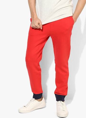Red Solid Joggers United Colors of Benetton Track Pants at myntra