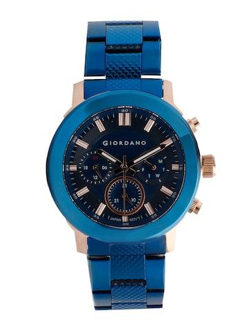 GIORDANO Men Blue Analogue Watch 1980-66 GIORDANO Watches at myntra