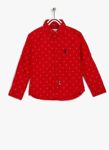 Red Regular Fit Casual Shirt U.S. Polo Assn. Kids Shirts at myntra