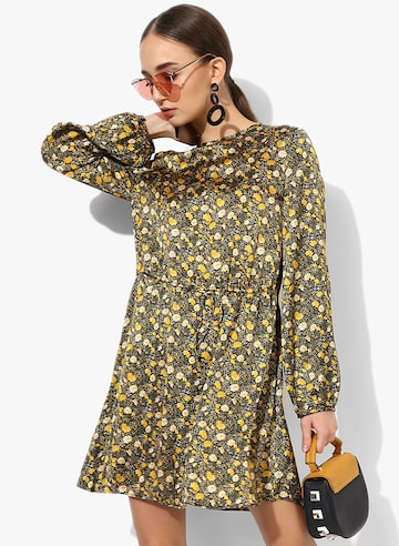 Multi Coloured Printed Shift Dress MANGO Dresses at myntra
