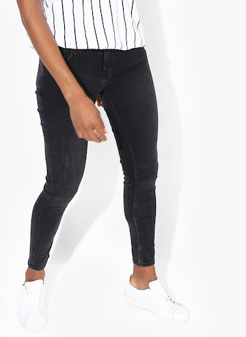 Black Solid Mid Rise Skinny Fit Jeans MANGO Jeans at myntra