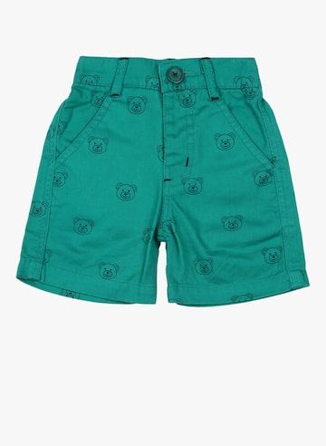 Green Printed Shorts 612 league Shorts at myntra