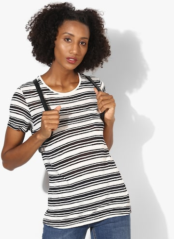 White Striped Regular Fit T Shirt Superdry Tshirts at myntra