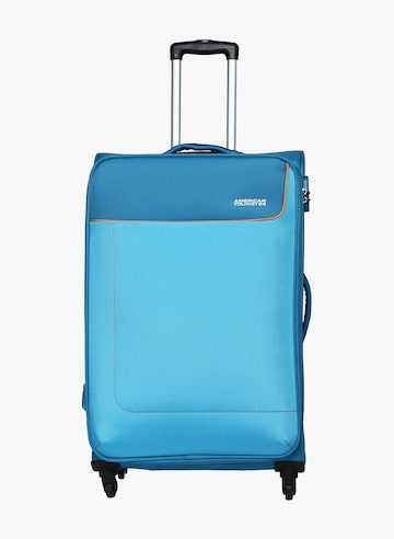 80Cm Jamaica Sp Turquoise Blue Soft Strolley AMERICAN TOURISTER Trolley Bag at myntra