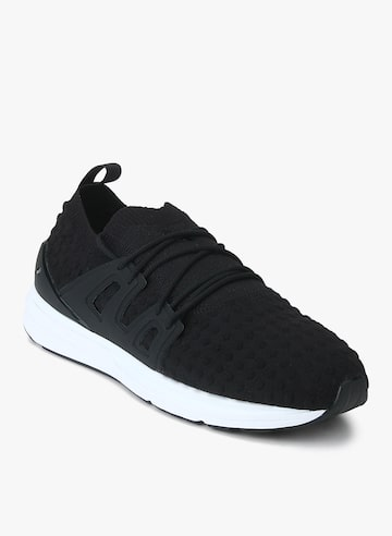 Puma Men Black Solid Mesh Mid-Top Sneakers Puma Casual Shoes at myntra