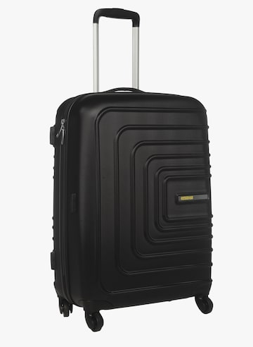 Sunset Square 4 Wheel Large Black Hard Luggage Strolley AMERICAN TOURISTER Trolley Bag at myntra