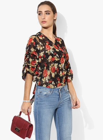 Multicoloured Printed Blouse Style Quotient Tops at myntra
