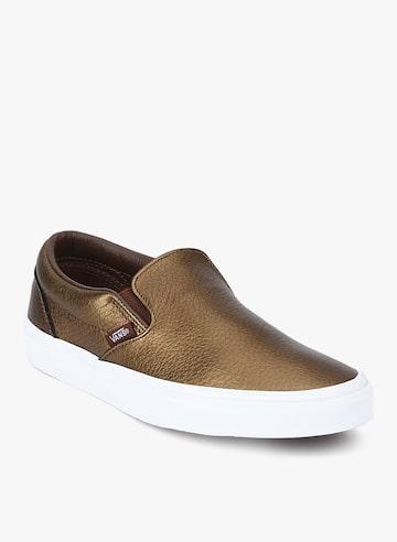 Classic Bronze Metallic Sneakers Vans Casual Shoes at myntra