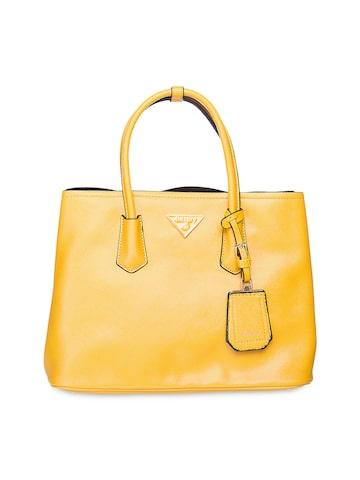 Elespry Yellow Handbag at myntra