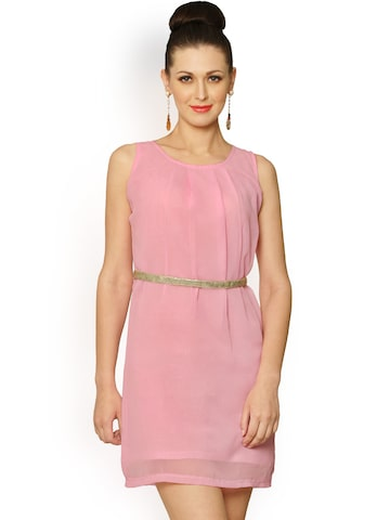 Miss Chase Pink A-Line Dress at myntra