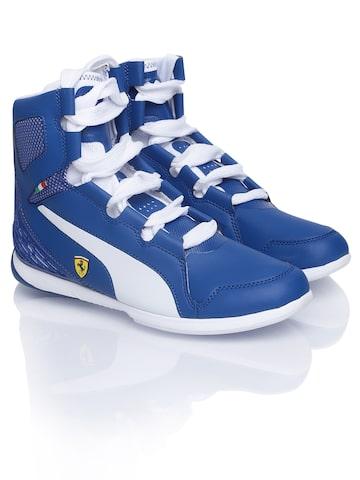 puma men blue valorosso mid ferrari sports shoes available