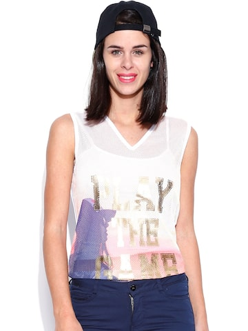 Noisy May by Vero Moda Multicoloured Printed Top at myntra
