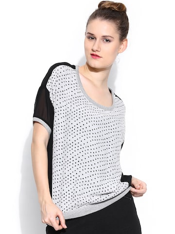 Wills Lifestyle Women White Printed Top Wills Lifestyle Tops at myntra