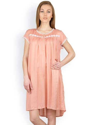 Citypret Peach-Coloured Nightdress CP9969-XL at myntra
