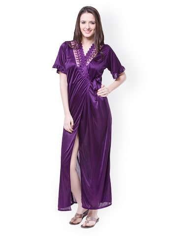 Fasense Purple 6 piece Nightdress Set DP116E2 at myntra