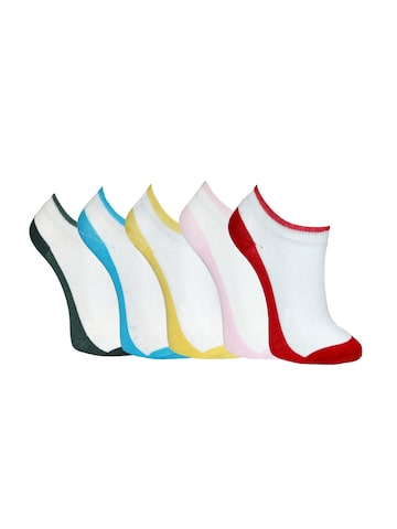 MARC Women Set of 5 White Socks at myntra