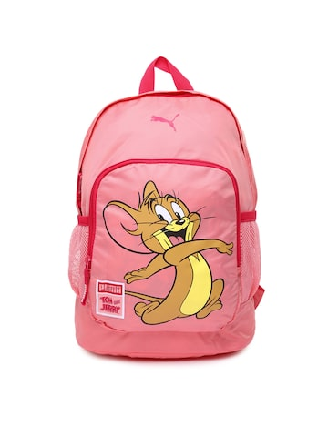 PUMA-Kids-Pink-Tom--Jerry-Backpack_1_02f