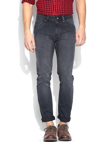 Ed Hardy Grey Slim Fit Trousers at myntra